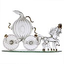 Arribas Glass Collection, Cinderella Carriage Ornament
