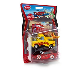 Disney Pixar Cars Funny Car Mater & Pinstripe Lightning McQueen Die-Cast Set