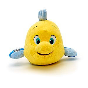 Animators' Collection Interactive Flounder Soft Toy, The Little Mermaid - Soft Toy Gifts