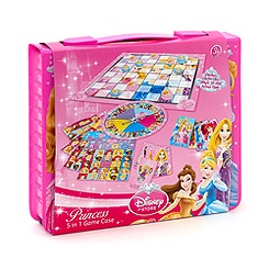 Disney Princess 5 in 1 Travel Game Case