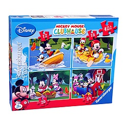 Mickey Mouse 4 in a Box Puzzle Set