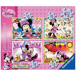 Minnie Mouse 4 in a Box Puzzle Set