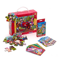 Mickey Mouse 64 Piece Puzzle with Matching Pairs Game