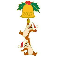 Chip 'N' Dale Limited Edition Christmas 2012 Pin