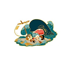 Pinocchio and the Whale Limited Edition Pin