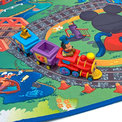 Disney mickey mouse tren alfombra juego ebay - Alfombras mickey mouse ...