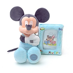 Mickey Mouse 33cm Soft Toy Holding Photo Frame