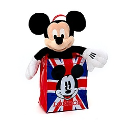 Mickey Mouse London Soft Toy In A Bag
