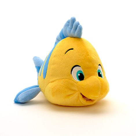 Flounder small soft toy 10 20 disney store for Little fish toys