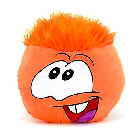 Orange Puffle Big Face Cushion
