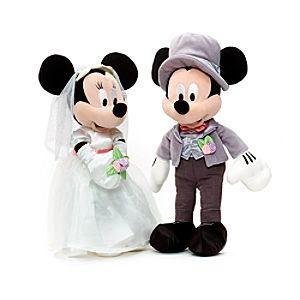 Mickey and Minnie Mouse Wedding Soft Toy - Wedding Gifts