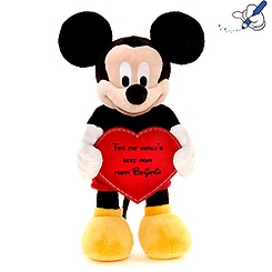Mickey Mouse With Heart 35cm Soft Toy