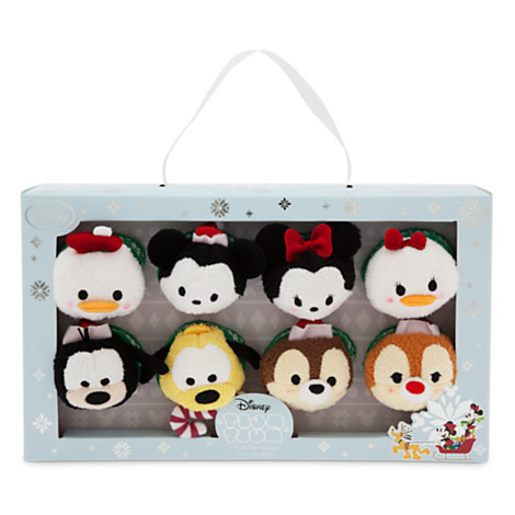 Mickey Mouse and Friends Tsum Tsum Mini Soft Toys, Set of 8
