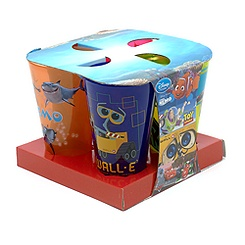 Disney Pixar Plastic Tumblers, Set of Four