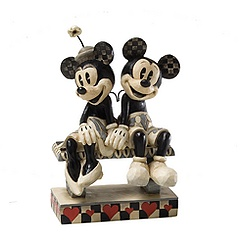 Jim Shore Disney Traditions Minnie and Mickey Mouse Date Night Figurine