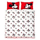 Mickey and Minnie Mouse Valentine's Double Duvet Set
