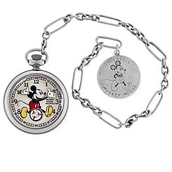 Ingersoll Mickey Mouse 30's Collection Silver Pocket Watch