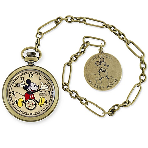 Ingersoll Mickey Mouse 30's Collection Antique Bronze Pocket Watch