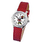 Ingersoll Classic Time Collection Minnie Mouse Moving Arm Watch - Red
