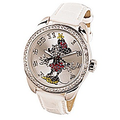 Ingersoll Classic Time Collection Minnie Mouse White Strap Watch
