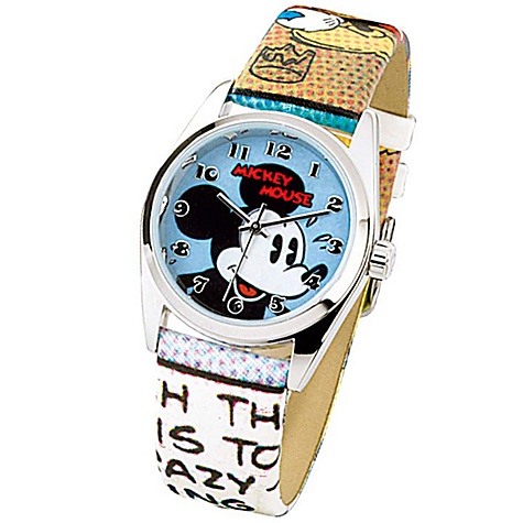 Ingersoll Classic Time Collection Mickey Mouse Round Case Watch