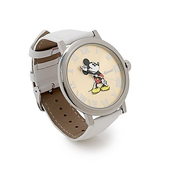 Ingersoll Classic Time Collection Mickey Mouse White Leather Watch