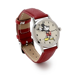 Ingersoll Classic Time Collection Mickey Mouse Red Leather Watch