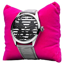 Mickey and Minnie Striped Ladies' Watch By Ingersoll