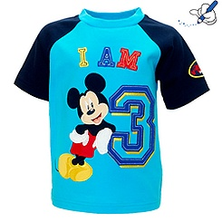 Mickey Mouse 'I Am 3' T-Shirt For Kids