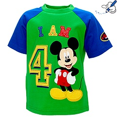 Mickey Mouse 'I Am 4' T-Shirt For Kids