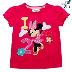 Minnie Mouse Age 2 T-Shirt For Kids