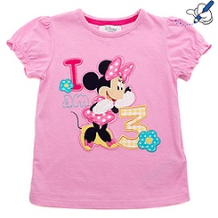 Minnie Mouse Age 3 T-Shirt For Kids
