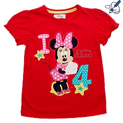 Minnie Mouse Age 4 T-Shirt For Kids