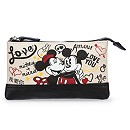 I Heart Mickey Mouse Canvas Cosmetic Bag