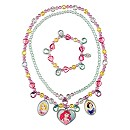 Disney Princess Necklace and Bracelet Jewellery Set