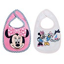 Minnie Mouse Baby Bibs, Pack of 2
