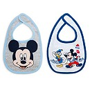 Mickey Mouse Baby Bibs, Pack of 2