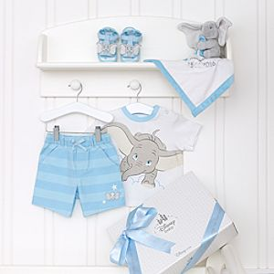 Dumbo Layette Blue Personalised Baby Gift Set