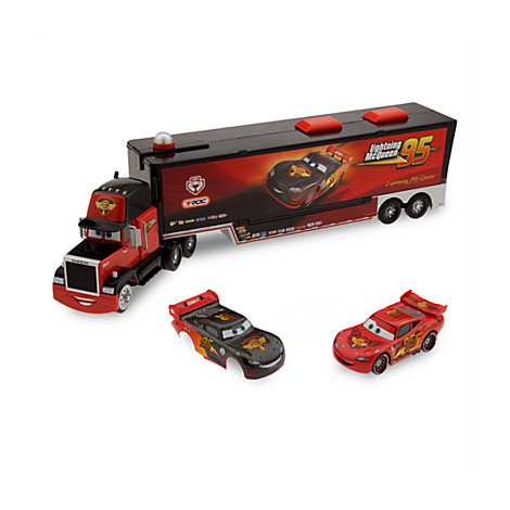 disney cars carbone racer mack launcher camion transporter hauler mcqueen neuf ebay. Black Bedroom Furniture Sets. Home Design Ideas
