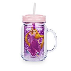 Rapunzel Jam Jar Cup With Straw