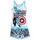 Captain America Ladies' Short Pyjamas