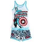 Captain America Ladies' Short Pyjamas