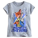 Nick Wilde and Judy Hopps T-Shirt For Kids, Zootropolis