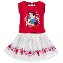 Snow White Top And Skirt Set For Kids