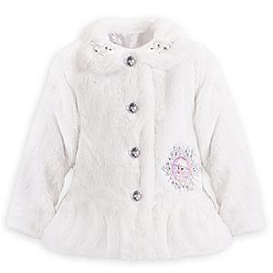 Frozen Faux Fur Coat For Kids-7-8 Years