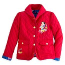 Snow White Quilted Jacket For Kids