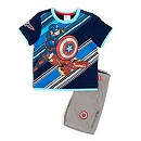 Marvel Avengers Captain America T-Shirt And Shorts Set For Kids