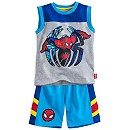 Spider-Man Knitted Top And Shorts Set
