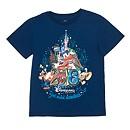 Disneyland Paris 2016 Logo T-Shirt For Kids, Navy