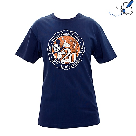 Disneyland Paris 20th Adults Signature Navy T-shirt